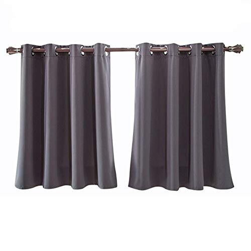 Hukz Rideaux occultants monochromes élégants et de haute qualité, doublés de mousse isolée épaisse, avec doublure en mousse épaisse, pour fenêtre (L x l x H) 150 x 90 cm, gris, L x W: 150cm x 90cm
