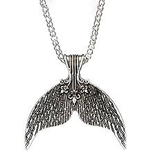 37a1758e7 OULII Bohemia étnica cola de sirena collar colgante collar de playa  colgante para mujeres niñas