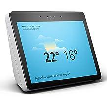 Echo Show (2. Gen.) Zertifiziert und generalüberholt, Premiumlautsprecher mit brillantem 10-Zoll-HD-Display, Schwarz