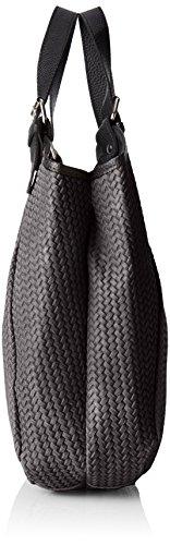 Chicca Borse Damen 80050 Shopper, 32x31x9 cm Grau (Grigio Metallico)