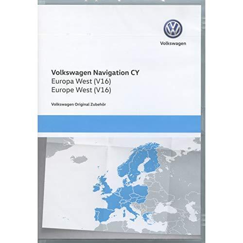 Volkswagen 1T0051859AQ Original DVD-ROM Navigation V16 Europa West RNS 510/810 Navigationssystem CY Navi Software VW Update