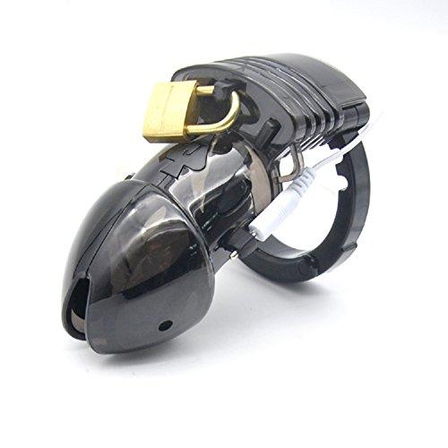 Ring Cinch-gürtel (ZhengYa Elektro Peniskäfig Keuschheitsgürtel für Männer Keuschheit Cuff Ring Bondage 57 (Black))