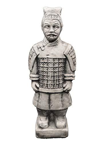 gartendekoparadies.de Massive Steinfiguren chinesischer Terrakotta Krieger aus Steinguss frostfest (Motiv III)