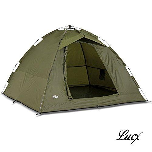 Lucx® Ruck Zuck Zelt / Angelzelt / 1-2 Man Bivvy / 1-2 Mann Karpfenzelt / Campingzelt / Sekundenzelt / Schnellaufbauzelt