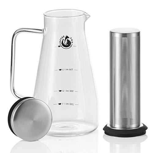 Coffee Fox Cold Brew Coffee Maker - Kaffee-Zubereiter Aroma Eiskaffee Kaffeebereiter - Die Kombination Eis-maker