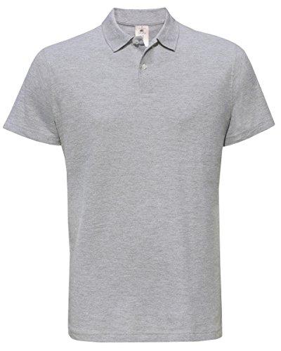 B&C Herren T-Shirt Grau Meliert