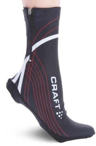 craft-copriscarpe-ciclismo-in-misto-lycra-adulto-multicolore-nero-rosso-bianco-s-m