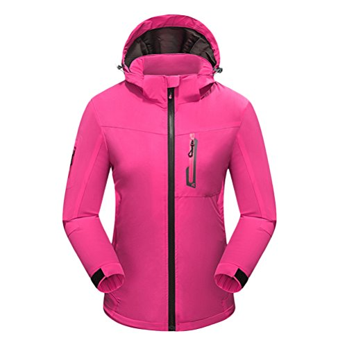 Zhuhaitf Haute qualité Outdoor Adult Womens Simple Breathable Windproof Hooded Sports Jacket Coat Rose Red