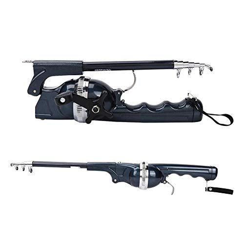 Alomejor Angelrute mit Rolle Reel Line und Angelschnur Baitcasting Combo Portable Casting Lure Tackle