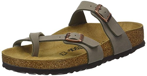 aadac51d9e2442 Birkenstock Women s Mayari Adjustable Toe Loop Cork Footbed Sandal Stone 40  ...