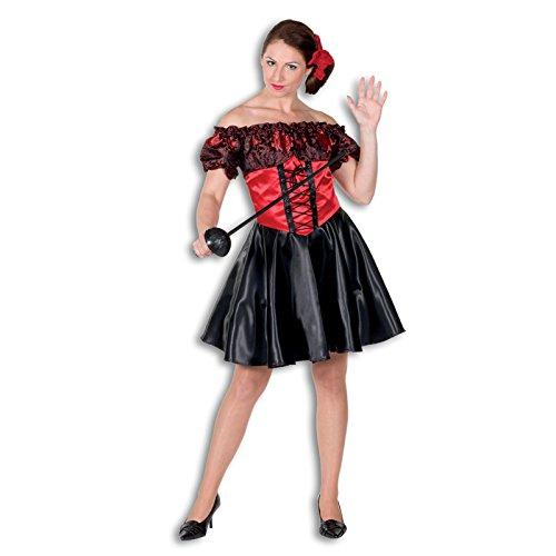 Kostüme Bandita (NEU Damen-Kostüm Schwarze Bandita, Gr.)