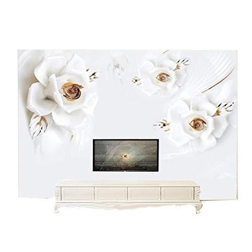 Preisvergleich Produktbild ZCHENG 3D-Relief Rose Tapete moderne TV Hintergrund minimalistische Wohnzimmer Tapete dreidimensionale Videowandverkleidung großflächigen Wandbilder,  400x280 cm (157, 5 von 110, 2 in)