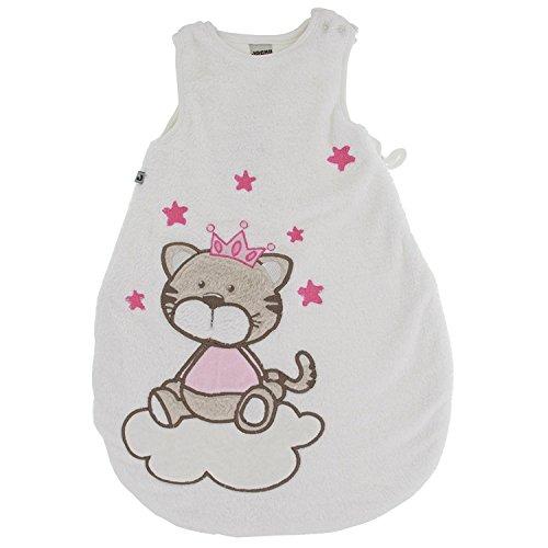 Jacky Mädchen Baby Winter Schlafsack Katze, Ärmellos, Wattiert, Alter: 2-6 Monate, Größe: 62/68, Farbe: Rosa, 350005