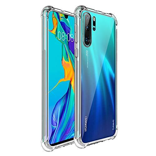 Cubevit Huawei P30 Pro Hülle, [Lebenslange Ersatzgarantie] [Crystal Clear] Case Cover, Ultra Dünn Premium Soft TPU Schutzhülle, Kratzfest Durchsichtige Silikon Slim Handyhülle für Huawei P30 Pro
