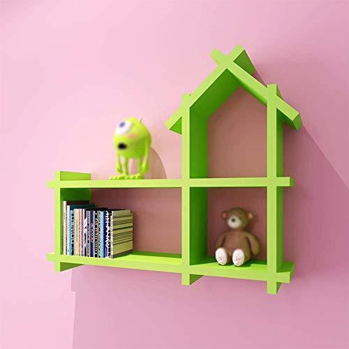 ZHAS Bücherregalwände an den Wandregalen Kreativer Schrank für kleine Häuser Auswahl (Farbe: GRÜN)
