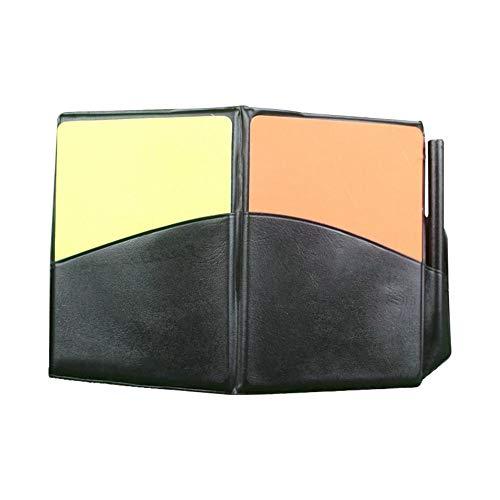 Xue-Diamond Rote gelbe Karte mit lederner Mappen-Bleistift Rote gelbe Karten, die Fluoreszierende Aufzeichnungspapier-Fußballschiedsrichter aufzeichnen