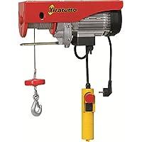 elettrocarrucola 'tiratutto' ideal para la familia y para trabajos mediano pesados. Motor monofásico, sellador de parada de emergencia.