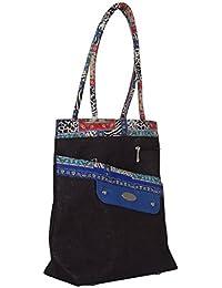 Handicraft Jute Bag J99 Black Hand Bag
