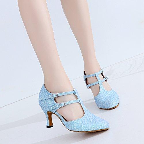 Minitoo , Salle de bal femme Light Blue-7.5cm Heel