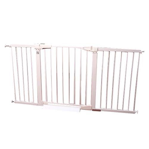 Barrière de sécurité Extra Large Pet Door pour Escaliers De Portes Intérieur en Métal Blanc Facile À Ouvrir Baby Gate Wall Protector 65-173cm Large (Taille : 117-123cm)