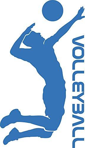GRAZDesign Wandtattoo Turnhalle - Home Dekoration modern Volleyball Spieler - Walltattoo Wohnzimmer Flur Büro Volleyballspieler / 69x40cm / 660192_40_053