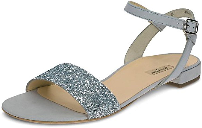Paul Green 6076-062 Damen Elegante Sandale aus Nubukleder Schnalle Lederfutter
