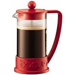 Bodum Brazil - Cafetera, 3 tazas, 0,35 l, plástico, color rojo