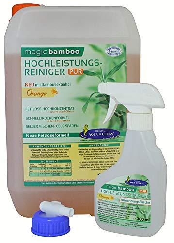 AQUA CLEAN Magic Bamboo Hochleistungsreiniger 5l Hochkonzentrat (Orange) -