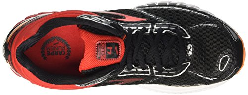 Brooks Aduro 4, Chaussures de Course Homme Multicolore (Black/highriskred/vibrantorange)