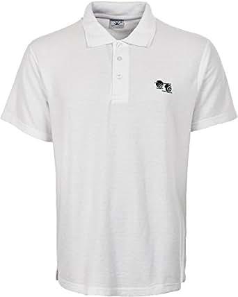 Mens Bowling Tshirt White Polo With Bowlers Bowls Logo t Shirt (Small, White)