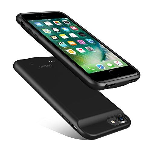 Handy-akku Mah 3000 (ICHECKEY Ultradünne 3000mAh Akku-Hülle für iPhone 7/iPhone 8 Battery Case Lightning Audio Ausgabe Slim iPhone 6/iPhone 6S Power-Case Handyhülle mit Zusatzakku Extra 100% Akkulaufzeit (Schwarz))