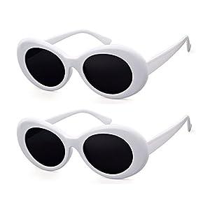 e58e7e1557 ADEWU Oval Sunglasses Retro Kurt Cobain Clout Goggles with Round Lens for Women  Men. FASHION DESIGN ...