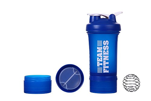 Ishake Easy Stack Plastic Shaker Bottle, 500 ml (Blue)  available at amazon for Rs.296