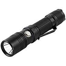 A través de ThruNite TN12 XP-L NW Tactical LED-linterna de: 1100 lumens, 5 de diferentes niveles de luz, resistente al agua