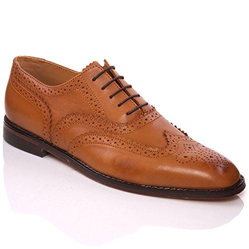 Unze Cuir espagnol Chaussures à lacets habillées Hommes de Florman   Brun 680cdb90246