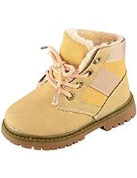 Huhu833 Kinder Mode Jungen Mädchen Stiefel Martin Stiefel Winter Warm Boots Kinder Schuhe Casual Snow Boots Schuhe