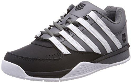 K-Swiss Herren Baxter Sneaker, Grau (Charcoal/Black), 46 EU