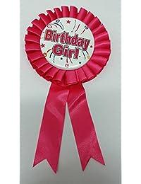 SystemsEleven BLUE RED AWARD RIBBON ROSETTE BIRTHDAY BOY GIRL HAPPY BIRTHDAY BADGE (Birthday Girl)