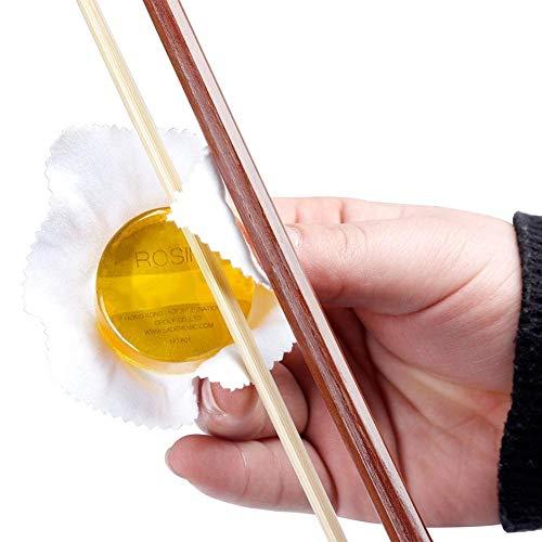 Dilwe Streich Instrument Kolophonium, High Sensitive Soild Rund Kolophonium mit dauerhafte Adhesive Force für Violine Erhu Cello Viola(Gelb)
