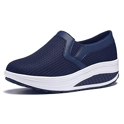 Hishoes Donna Traspirante Mesh Piattaforma Dimagranti Sportive Scarpe Fitness Shape-Ups Tacco Zeppa Scarpe da Passeggio