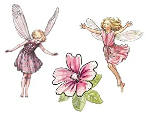 flower fairy prepasted wallpaper cutouts   wall stickers