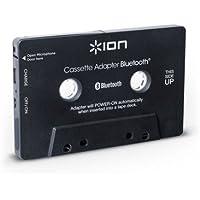 ION Audio Bluetooth Cassette Adapter - Transmisor de audio Bluetooth para reproductores de cassette y manos libres incorporadas para llamadas