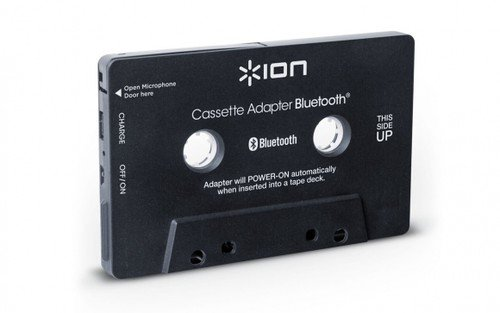 ION Audio Bluetooth Cassette Adapter - Transmisor de audio Bluetooth para reproductores de cassette y manos libres incorporadas para llamadas
