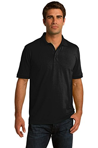 Port & Company® Tall Core Blend Jersey Knit Polo. KP55T Jet Black XLT -