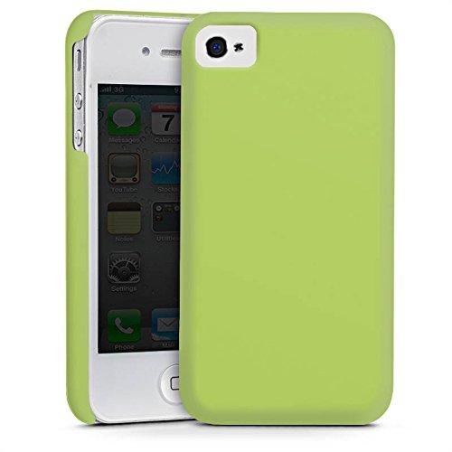 Apple iPhone 5s Housse étui coque protection Vert tilleul Printemps Vert Cas Premium mat