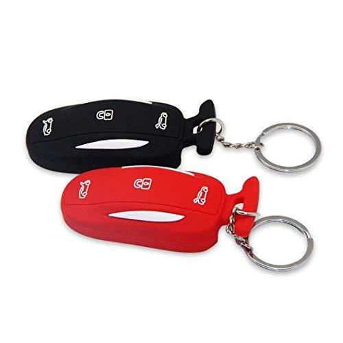Topfit Silicone Voiture Porte-cl/és Porte-cl/és Porte-cl/és Porte-cl/és pour le mod/èle X-Black Red Paquet de 2