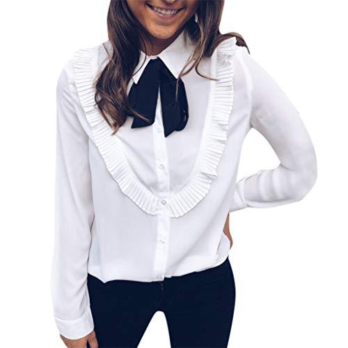 Xmiral Mujeres Camisa para Trabajo Negocio Oficina con Pajarita...