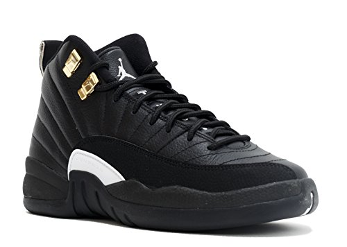 Nike Jungen Air Jordan 12 Retro BG Turnschuhe, Blanco/Negro/Dorado Weiß-Schwarz-Mtllc Gold, 40 EU (Kinder Jordan Retro 12)