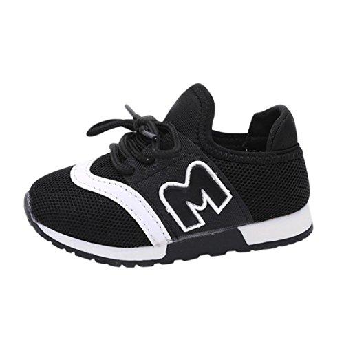 acfaf3a4e5d4cc FNKDOR Kinder Laufschuhe Babyschuhe Jungen Mädchen Turnschuhe Brief Mesh  Sport Schuhe(EU20 CN21 Fußlänge