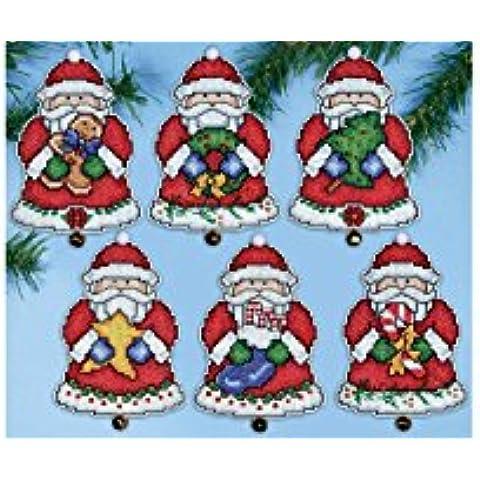 Santa Christmas Ornaments-Kit per punto croce
